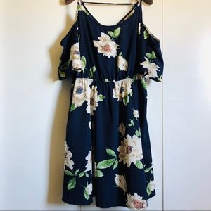 FOREVER 21 PLUS 2X FLORAL DRESS